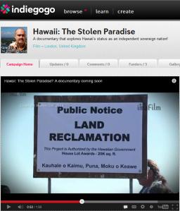 Indiegogo Hawaii campaign 469x548